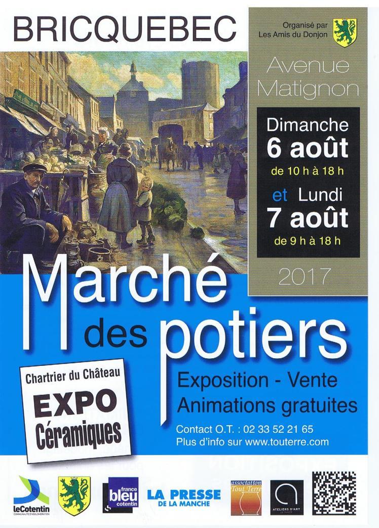 Affiche Marché des potiers 6-7 août Bricquebec 001