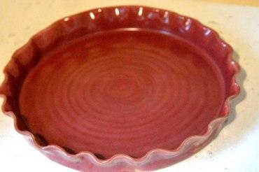 plat tarte vieux rose